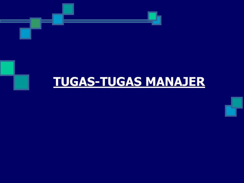 TUGAS-TUGAS MANAJER