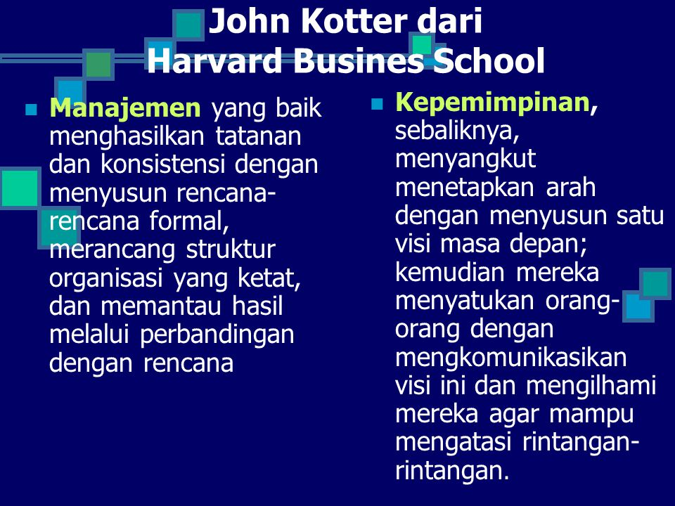 John Kotter dari Harvard Busines School
