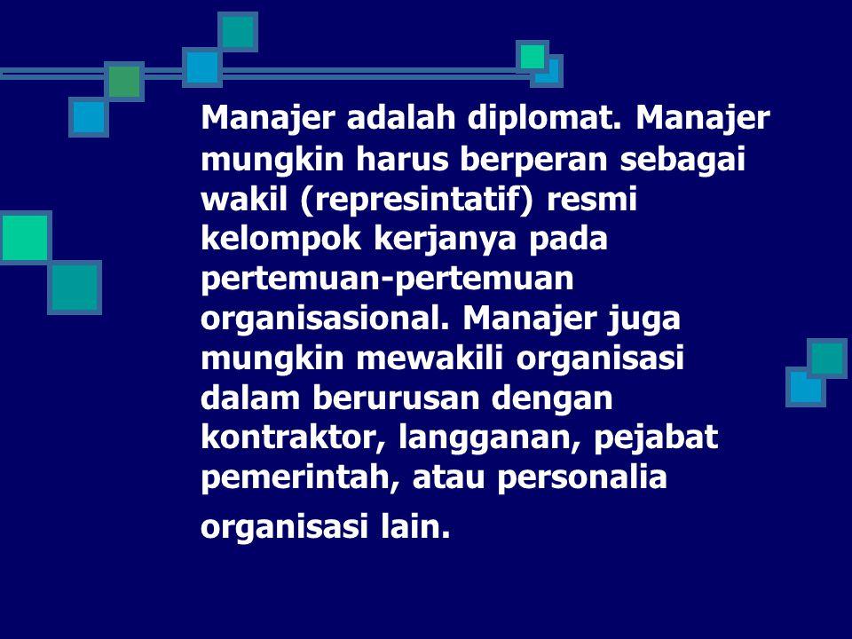 Manajer adalah diplomat