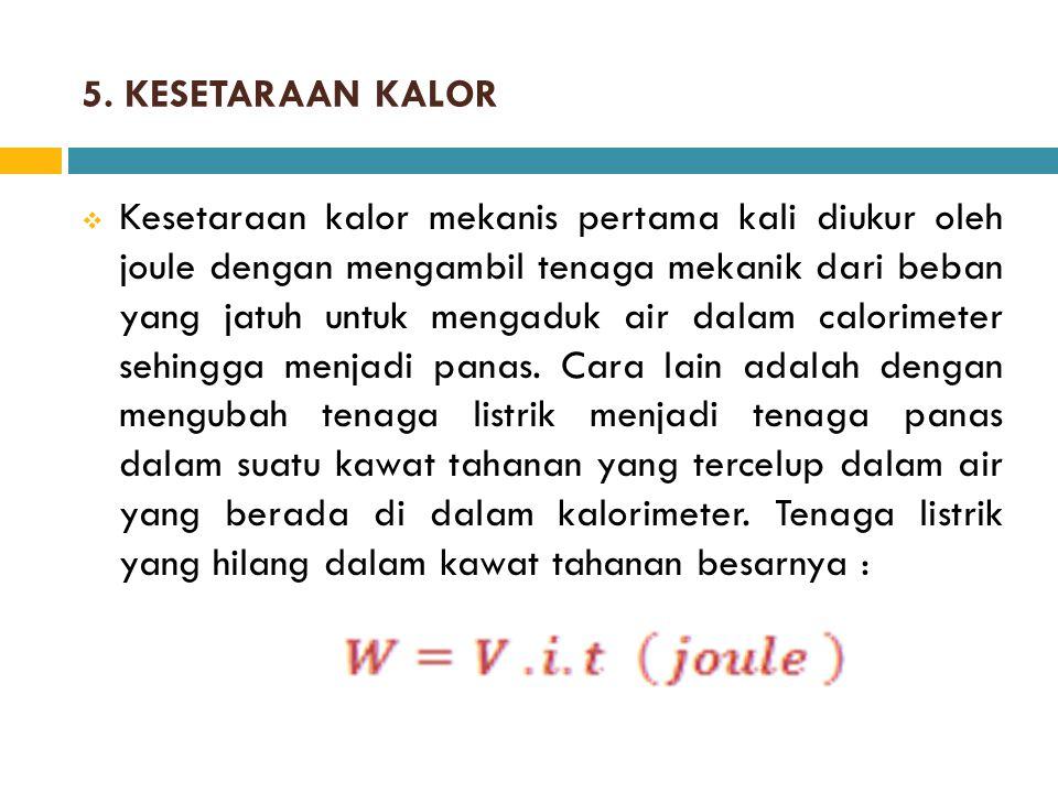 5. KESETARAAN KALOR