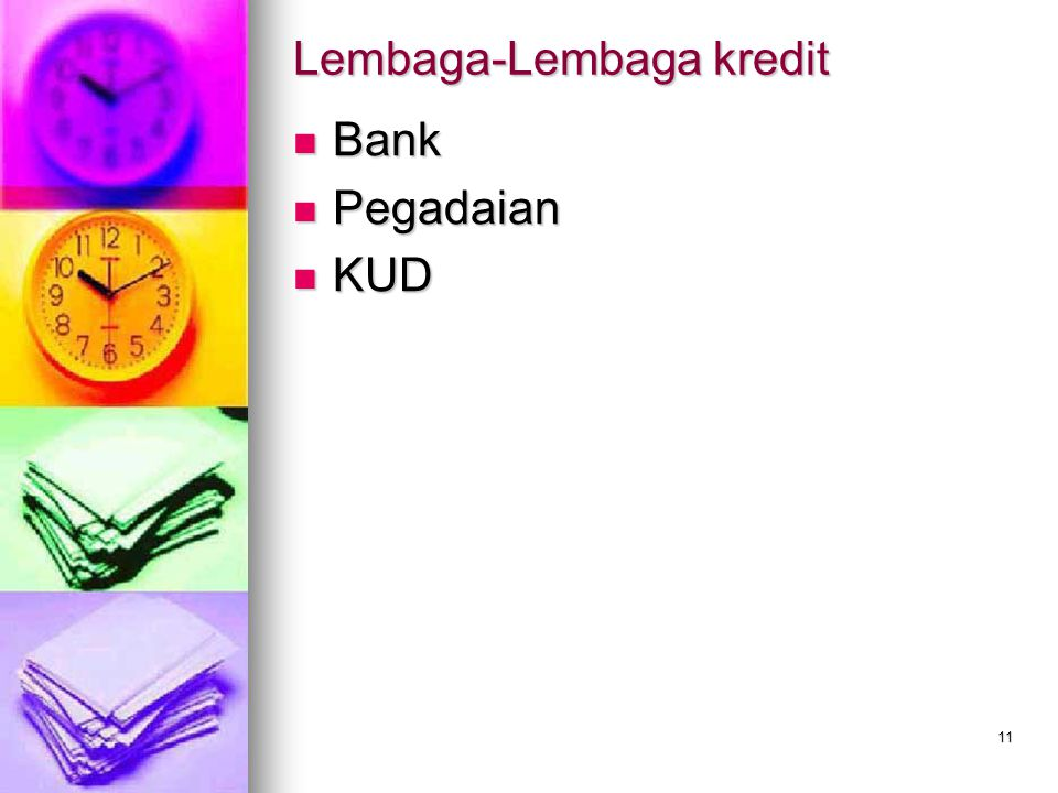 Lembaga-Lembaga kredit