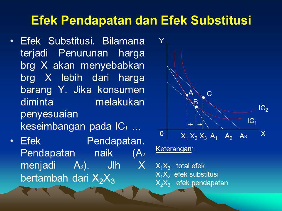 Efek Pendapatan dan Efek Substitusi