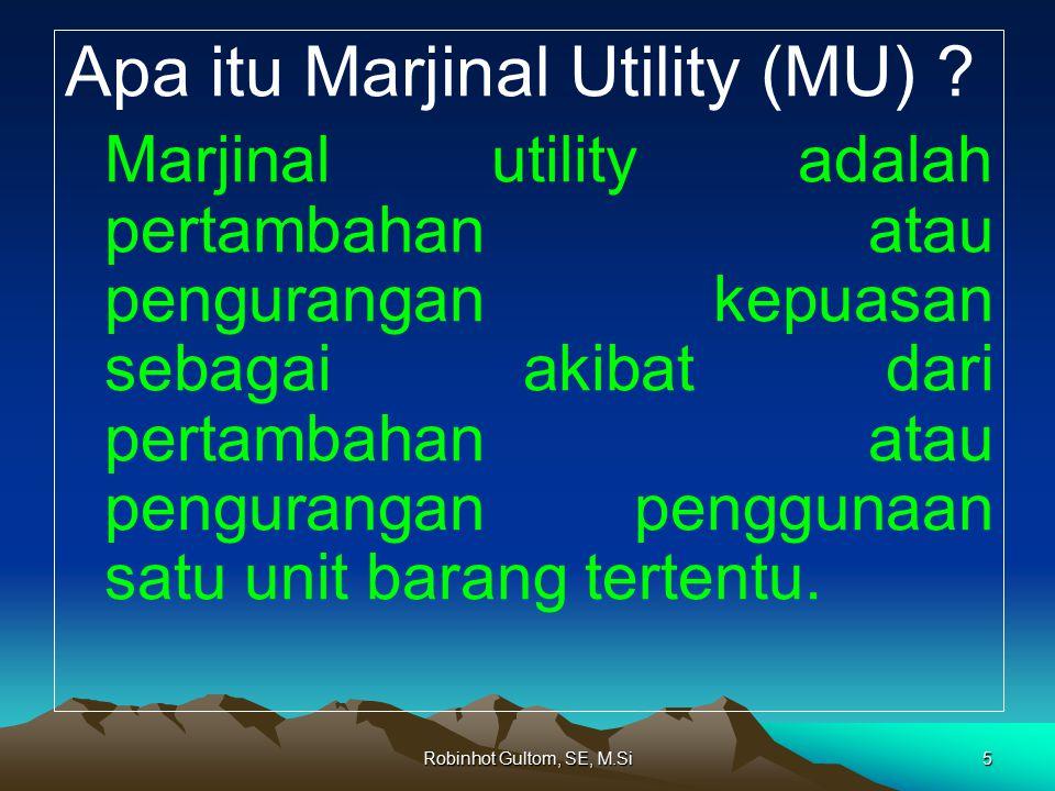 Apa itu Marjinal Utility (MU)