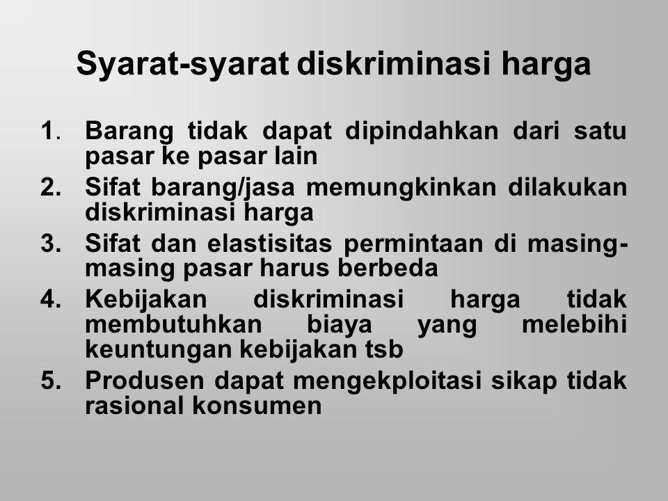 Syarat-syarat diskriminasi harga