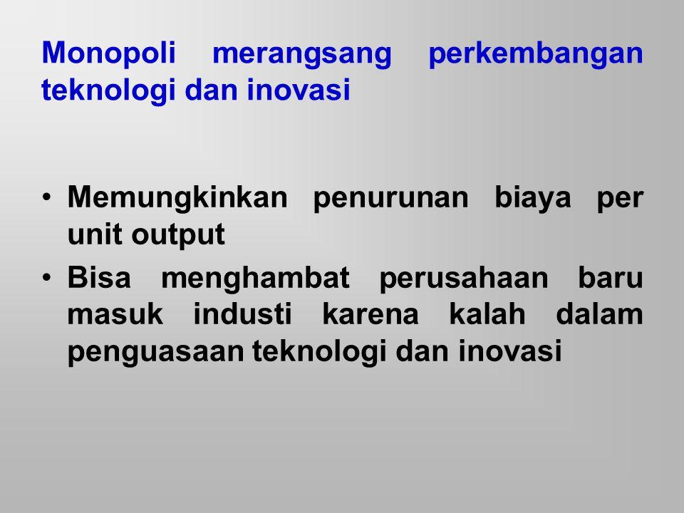 Monopoli merangsang perkembangan teknologi dan inovasi