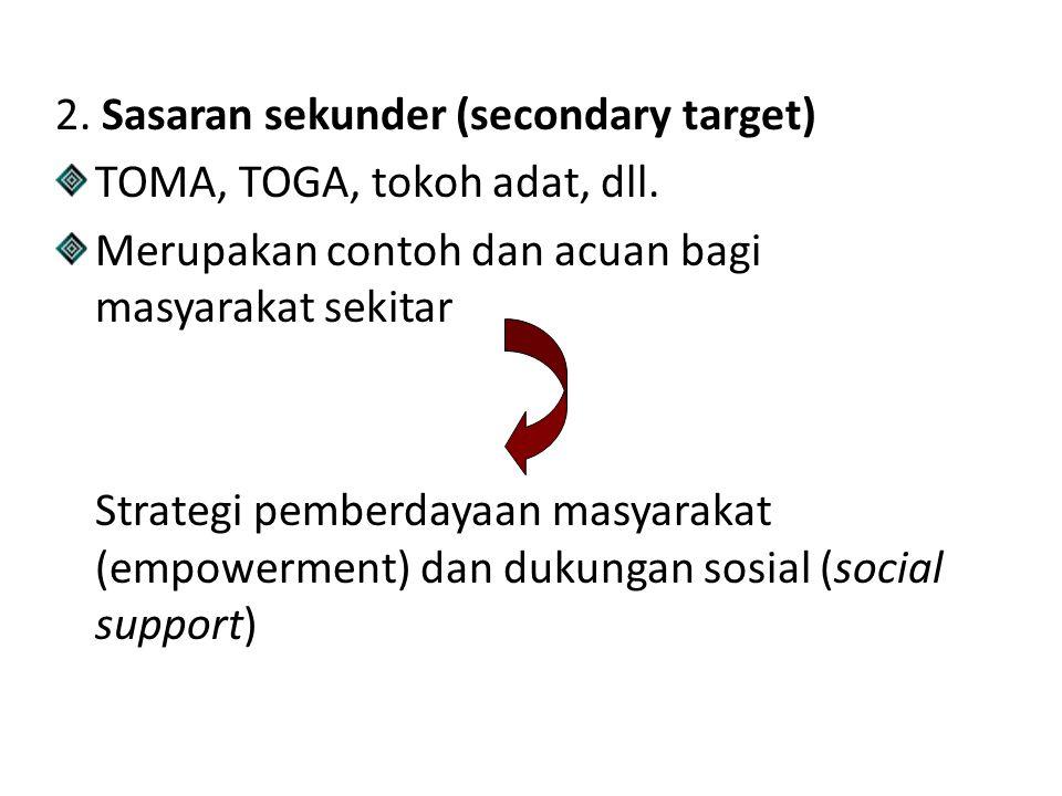 2. Sasaran sekunder (secondary target)