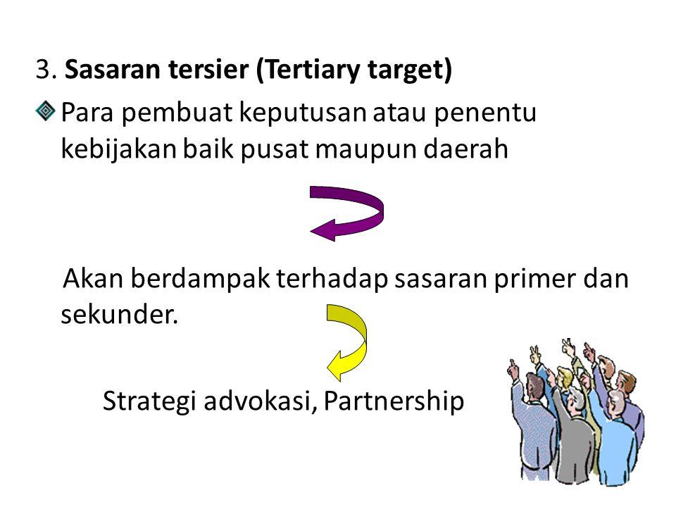 3. Sasaran tersier (Tertiary target)