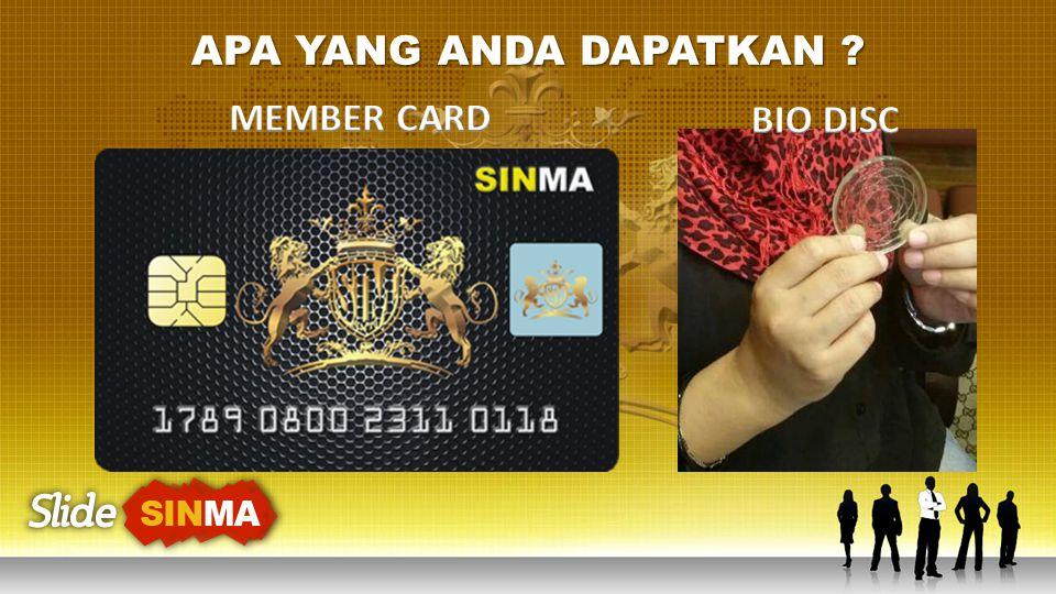 APA YANG ANDA DAPATKAN MEMBER CARD BIO DISC