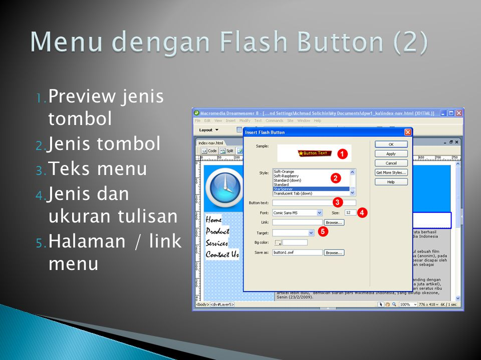 Menu dengan Flash Button (2)