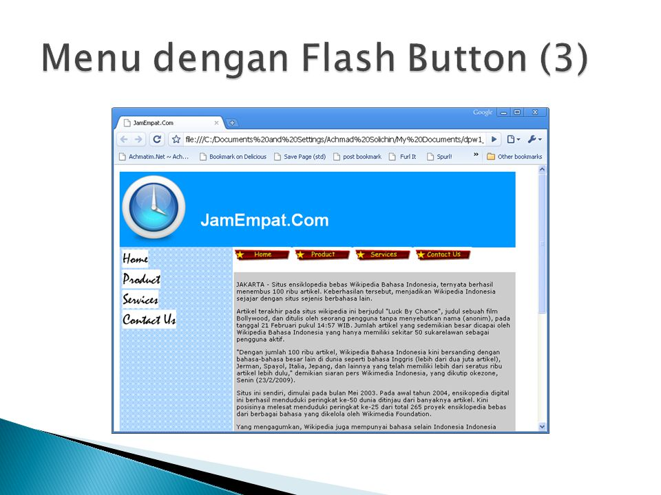 Menu dengan Flash Button (3)