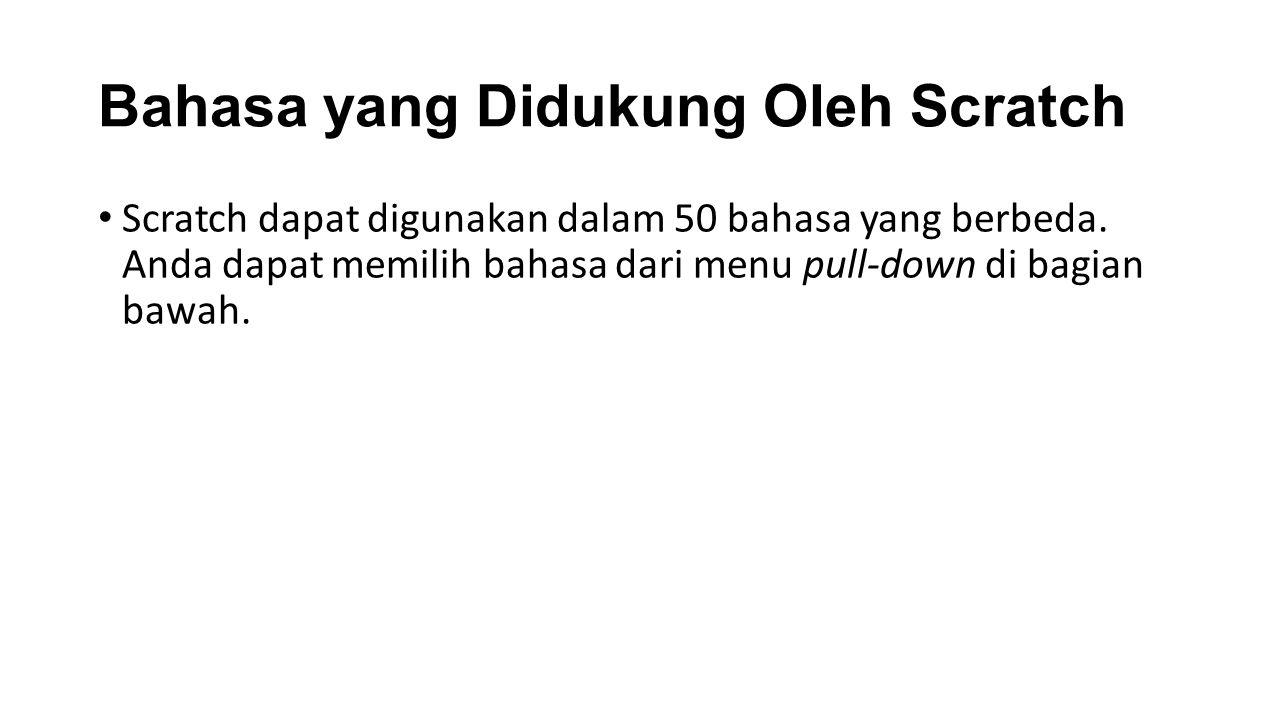 Bahasa yang Didukung Oleh Scratch