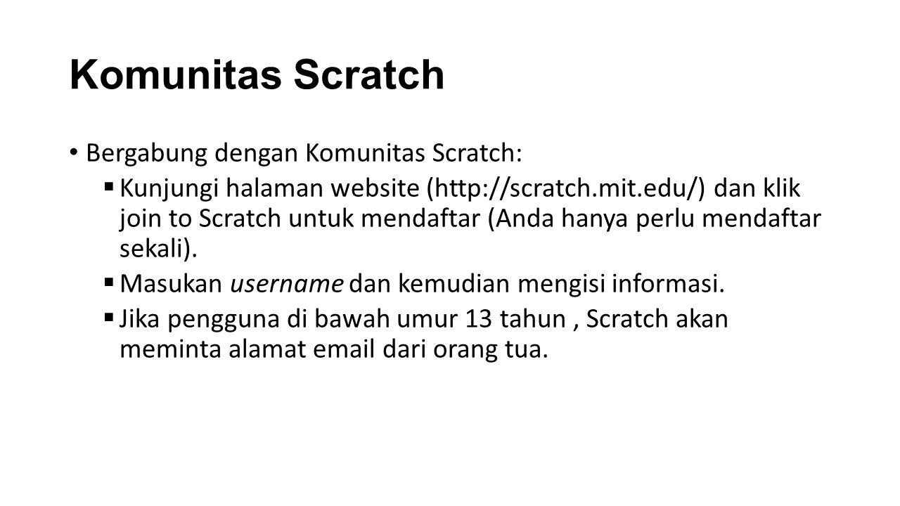 Komunitas Scratch Bergabung dengan Komunitas Scratch: