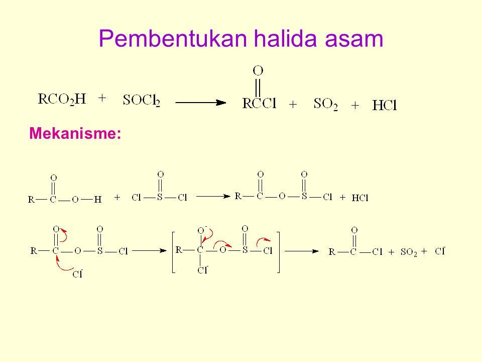 Pembentukan halida asam