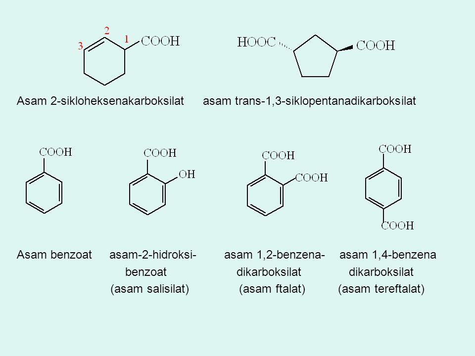 Asam 2-sikloheksenakarboksilat asam trans-1,3-siklopentanadikarboksilat