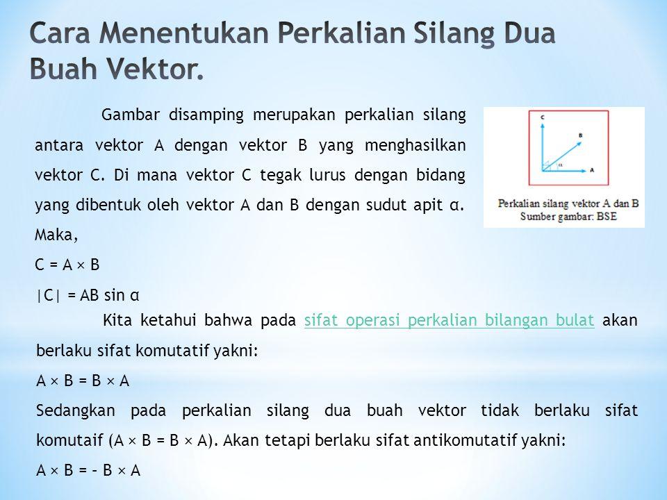 Cara Menentukan Perkalian Silang Dua Buah Vektor.