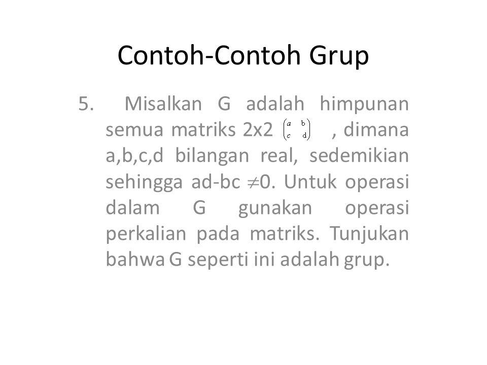 Contoh-Contoh Grup