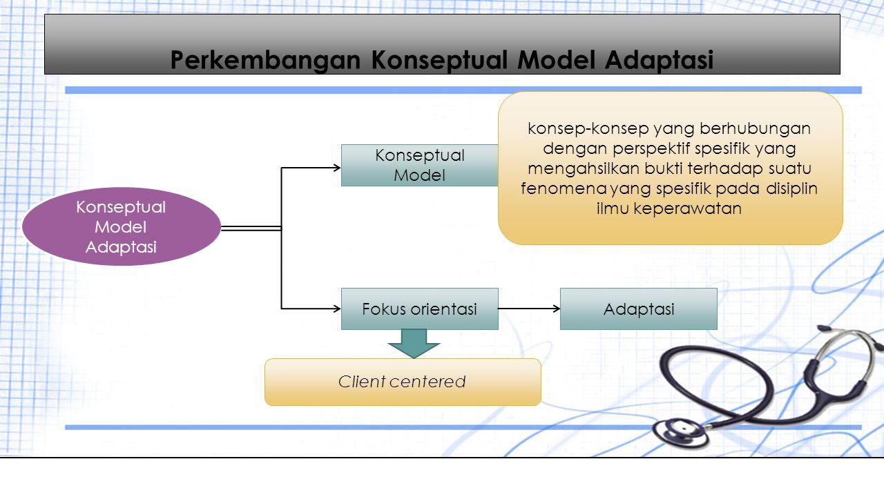 Perkembangan Konseptual Model Adaptasi