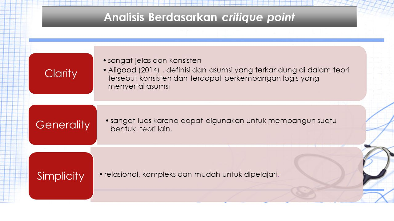 Analisis Berdasarkan critique point