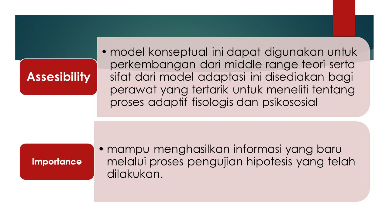 Importance Assesibility