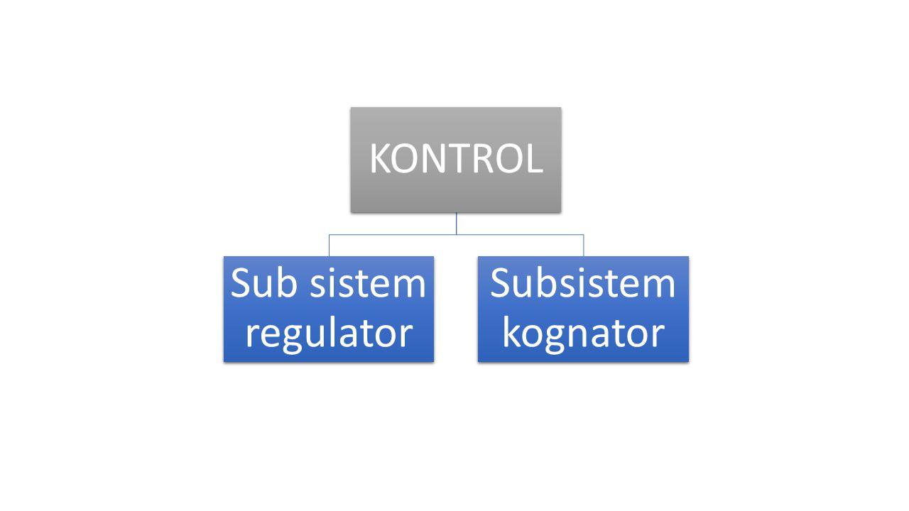 KONTROL Sub sistem regulator Subsistem kognator