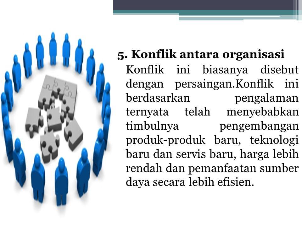 5. Konflik antara organisasi