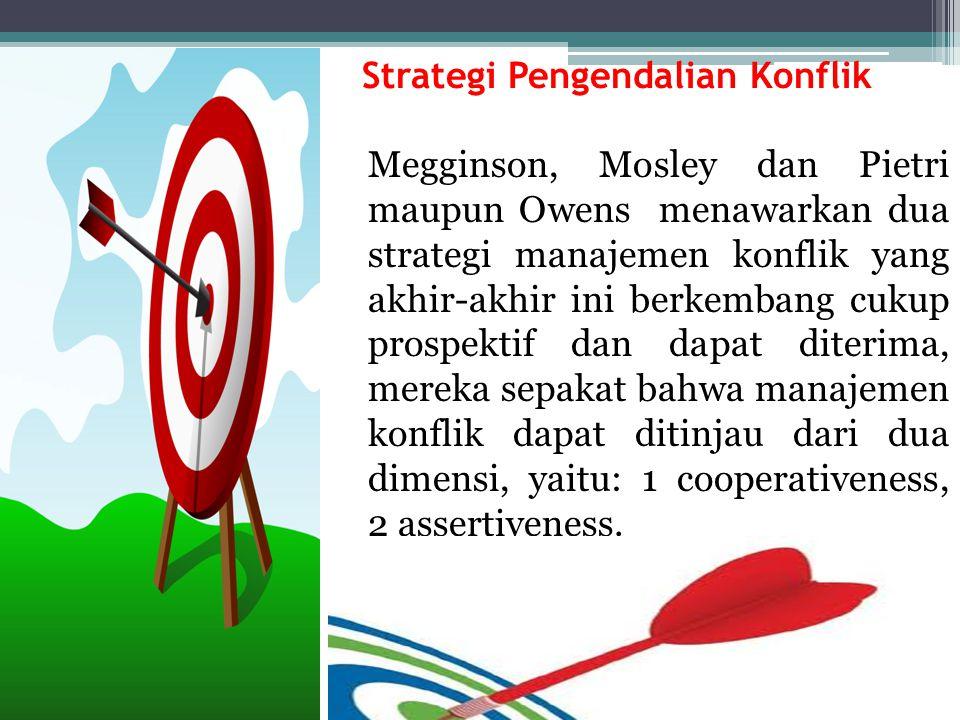 Strategi Pengendalian Konflik