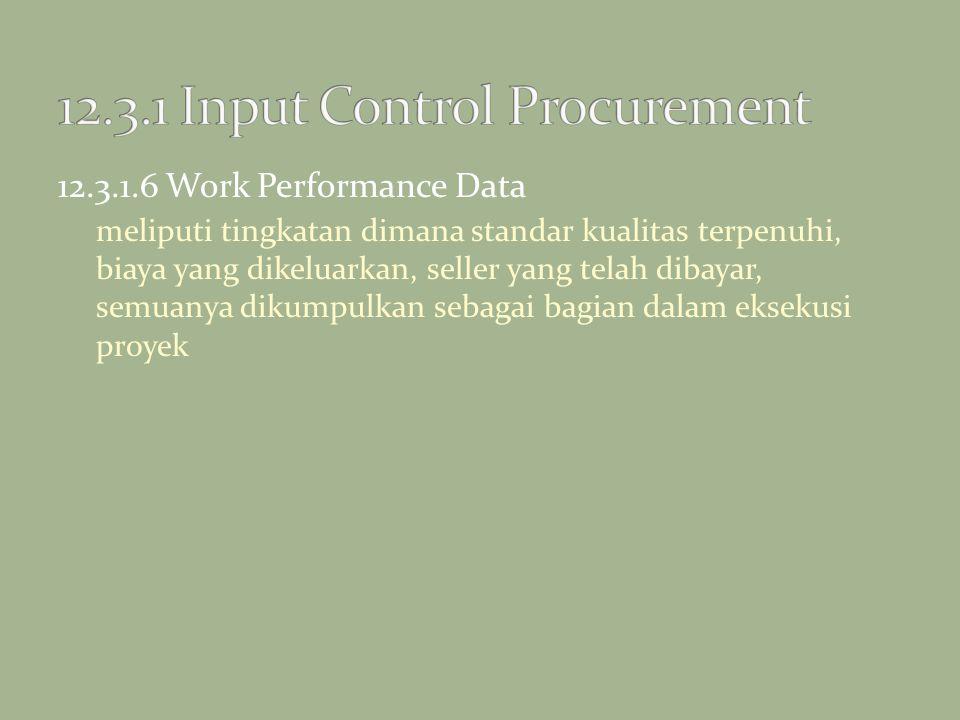 12.3.1 Input Control Procurement