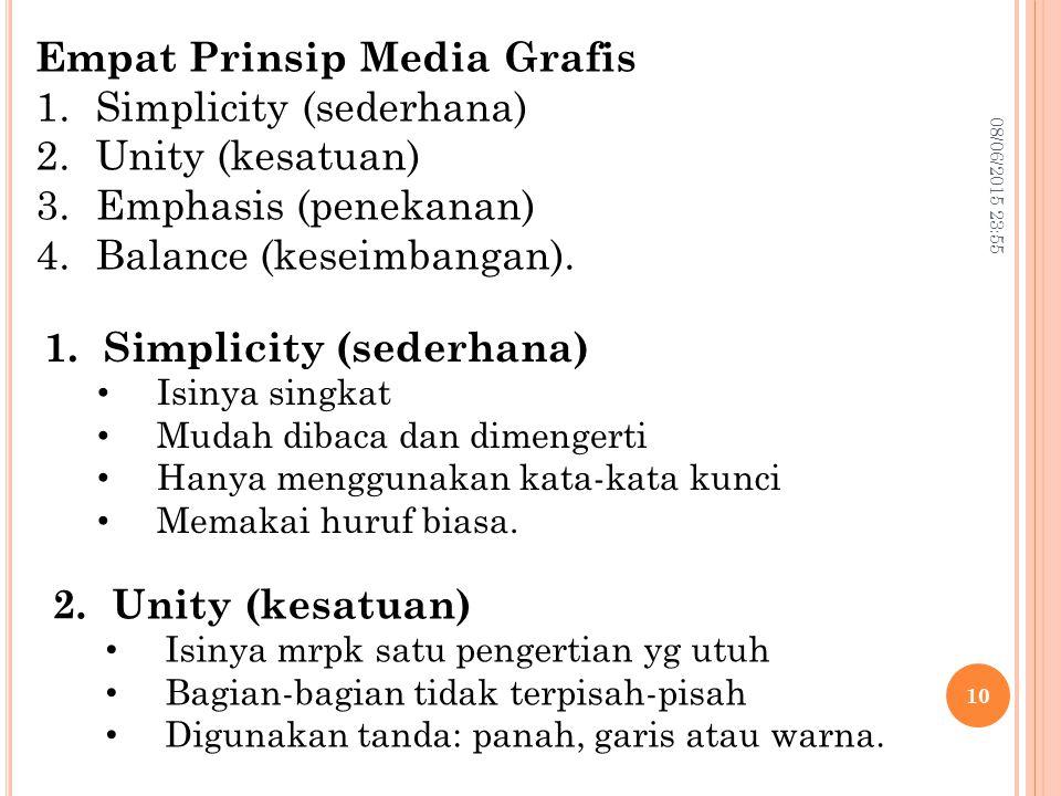 Empat Prinsip Media Grafis Simplicity (sederhana) Unity (kesatuan)