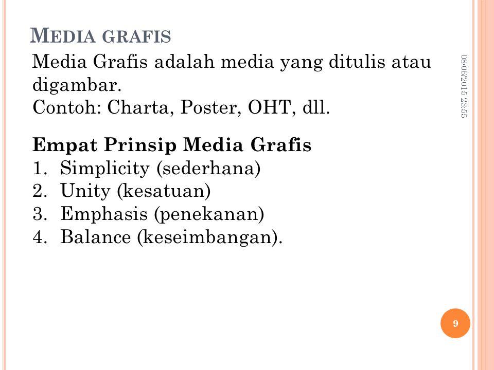 Media grafis Media Grafis adalah media yang ditulis atau digambar.