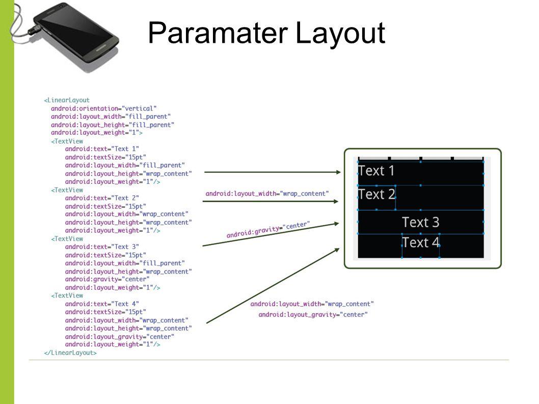 Paramater Layout