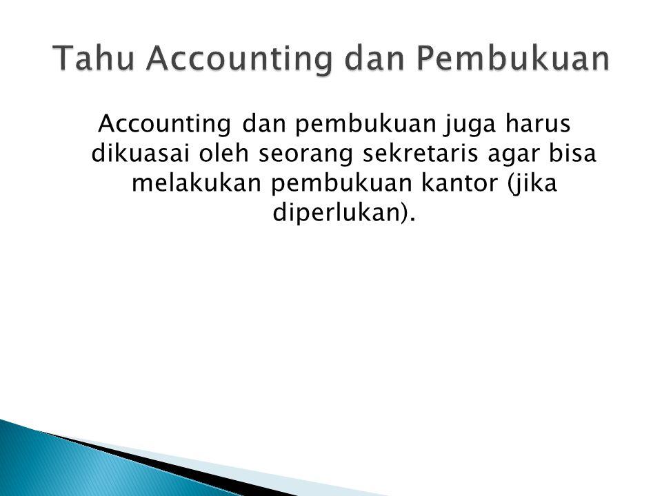 Tahu Accounting dan Pembukuan