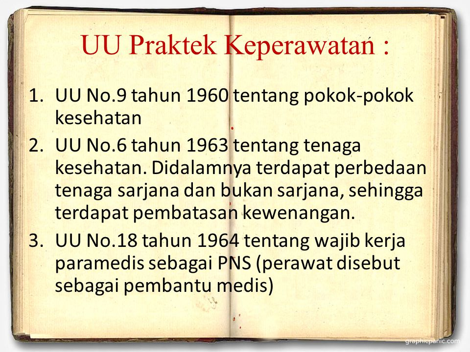 UU Praktek Keperawatan :