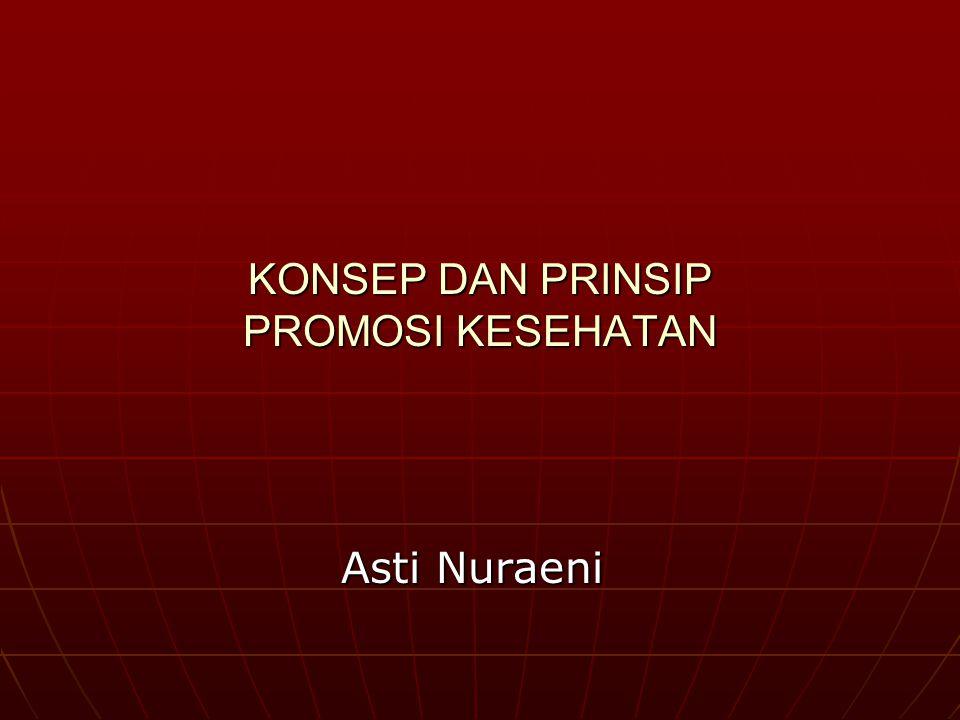KONSEP DAN PRINSIP PROMOSI KESEHATAN