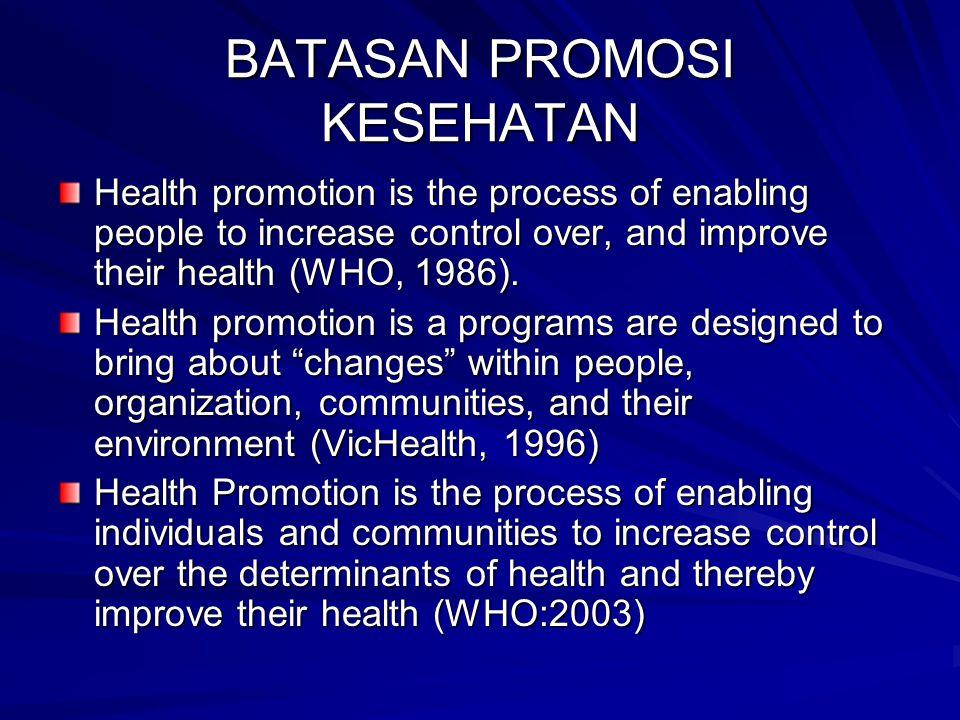 BATASAN PROMOSI KESEHATAN