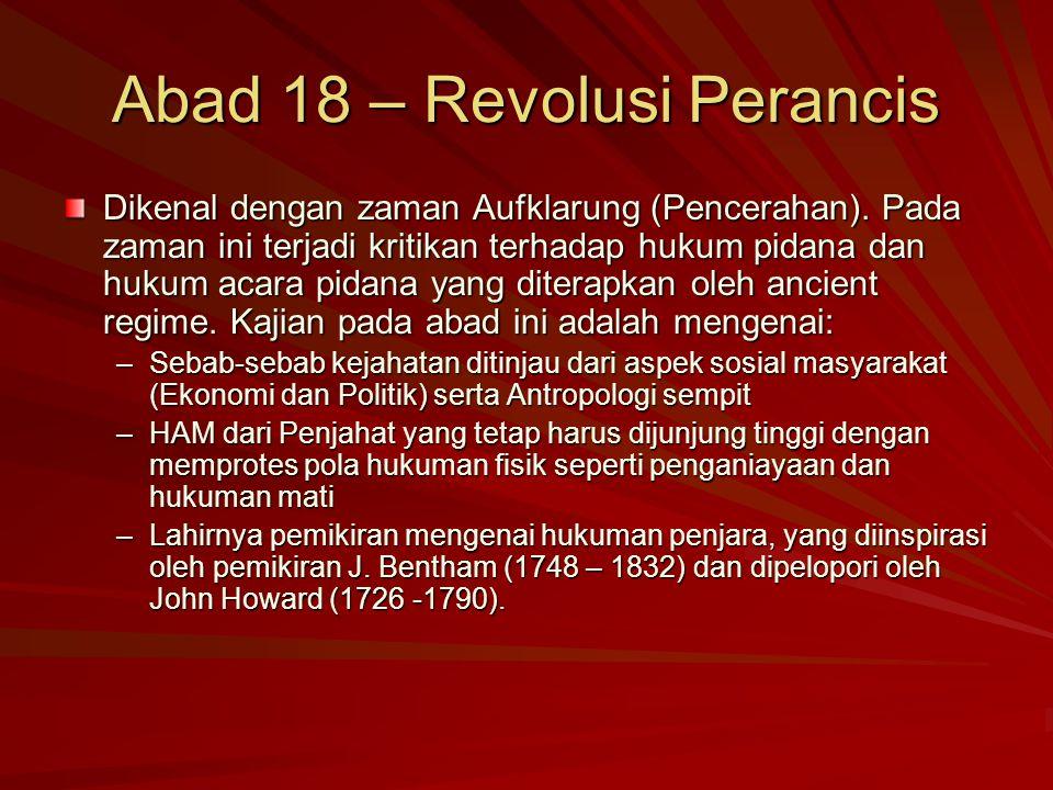 Abad 18 – Revolusi Perancis