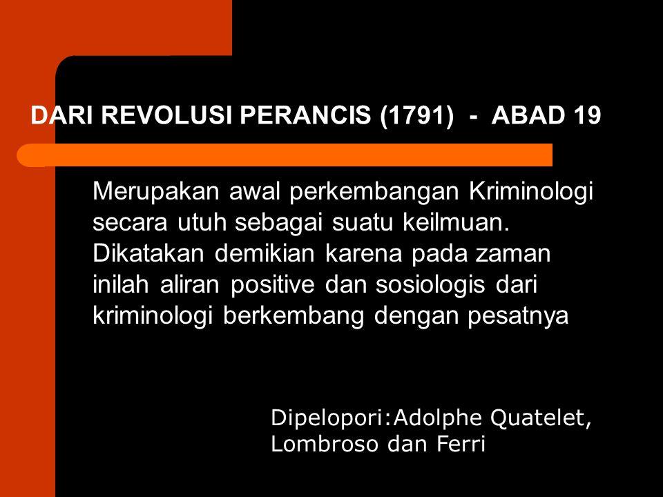 DARI REVOLUSI PERANCIS (1791) - ABAD 19