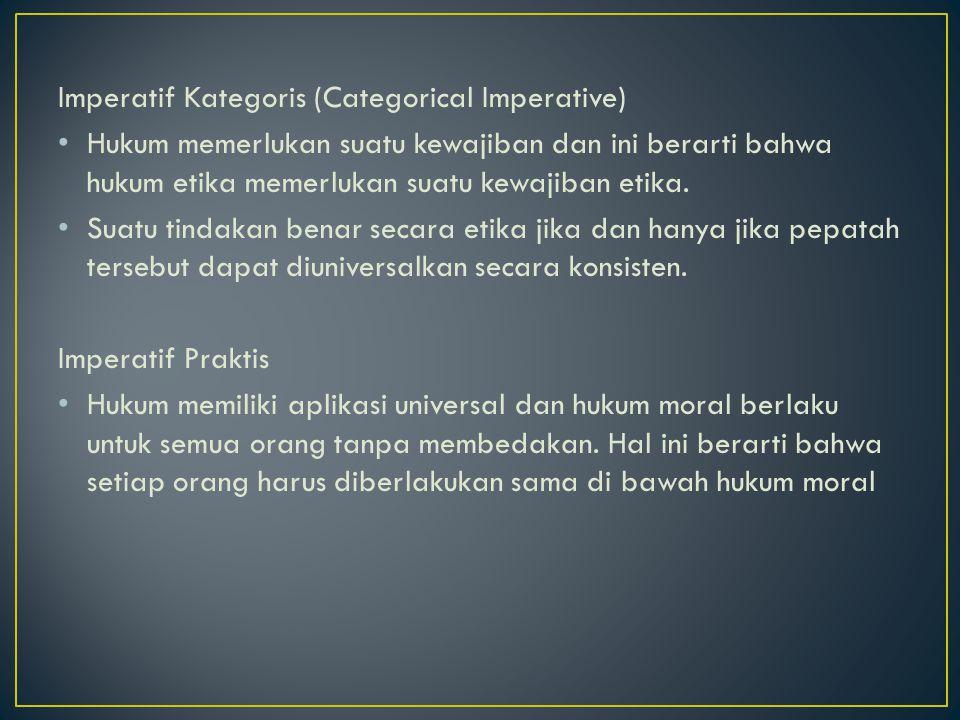 Imperatif Kategoris (Categorical Imperative)
