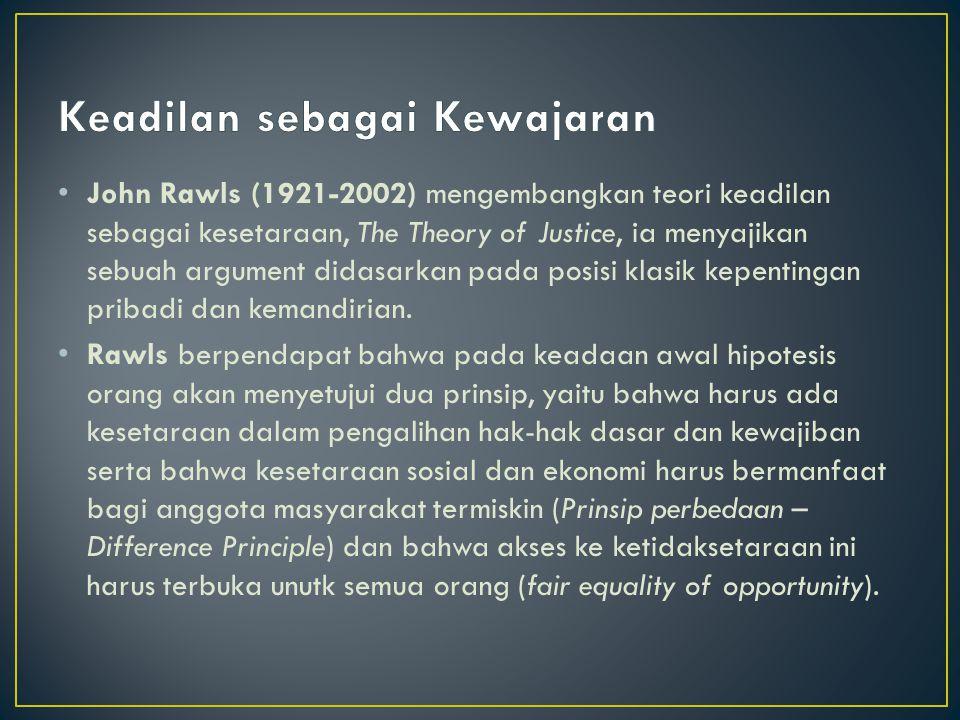 Keadilan sebagai Kewajaran