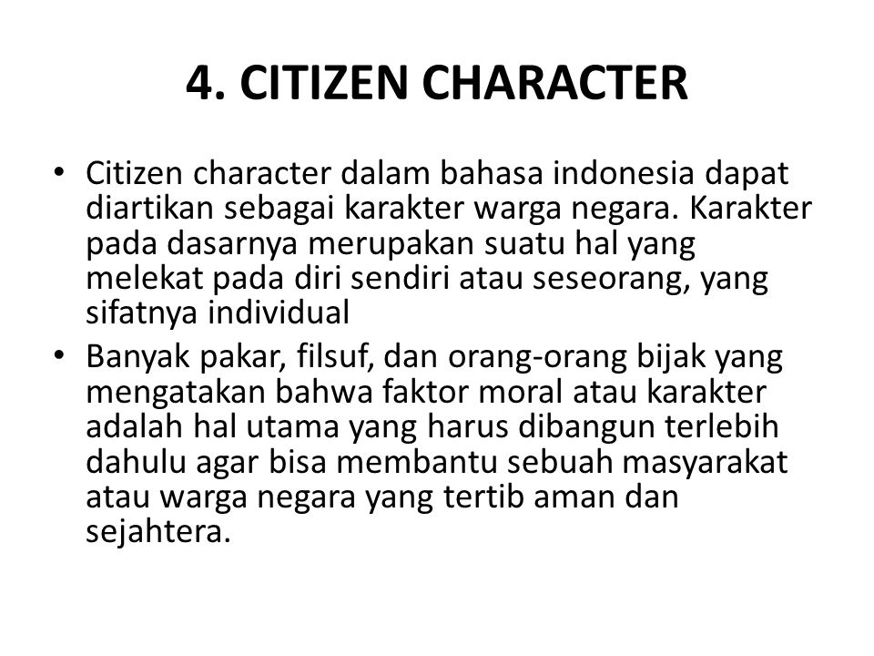 4. CITIZEN CHARACTER