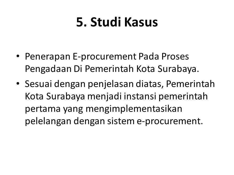 5. Studi Kasus Penerapan E-procurement Pada Proses Pengadaan Di Pemerintah Kota Surabaya.