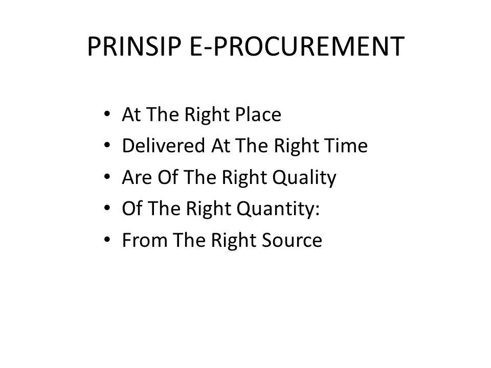 PRINSIP E-PROCUREMENT