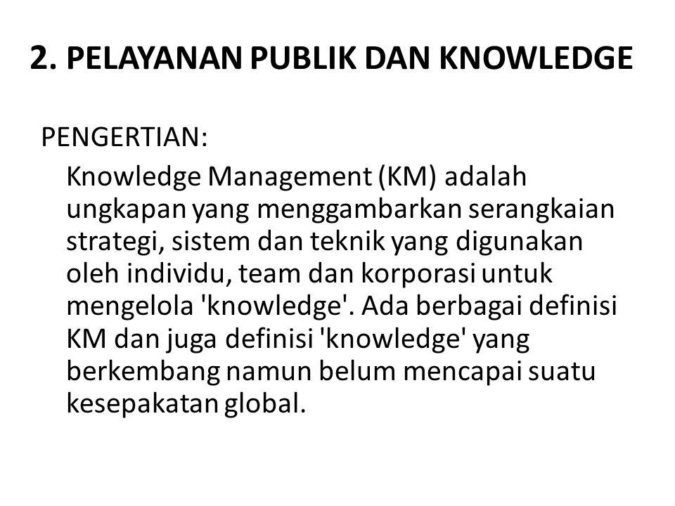 2. PELAYANAN PUBLIK DAN KNOWLEDGE