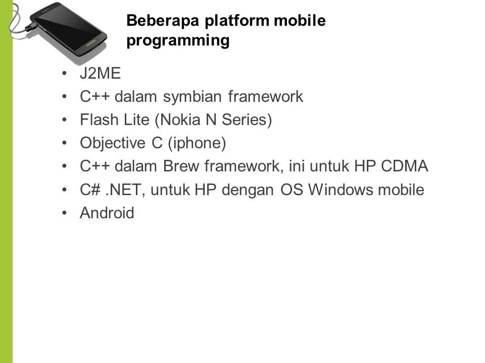 Beberapa platform mobile programming