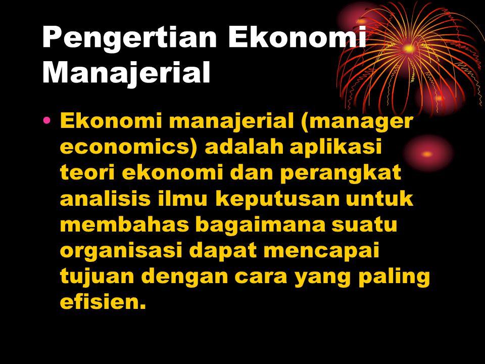 Pengertian Ekonomi Manajerial