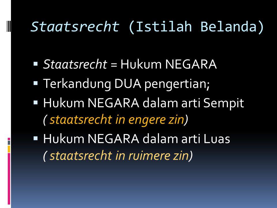 Staatsrecht (Istilah Belanda)