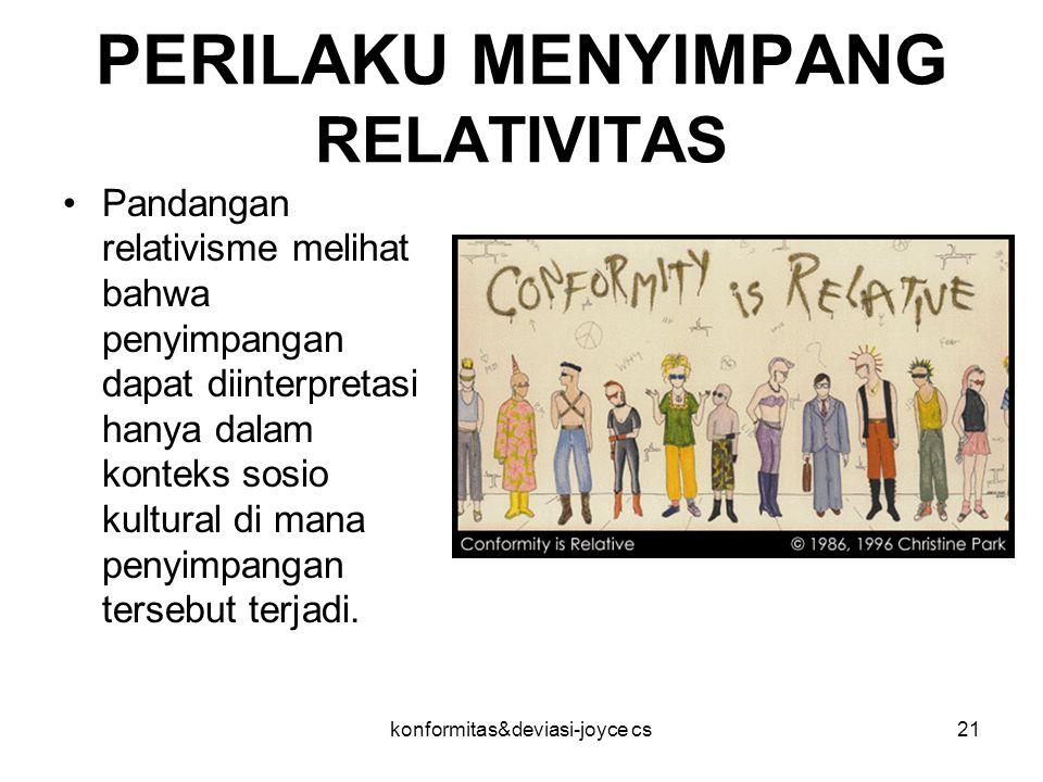 PERILAKU MENYIMPANG RELATIVITAS