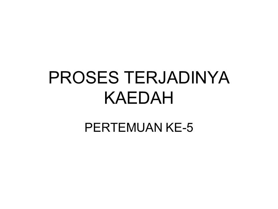 PROSES TERJADINYA KAEDAH