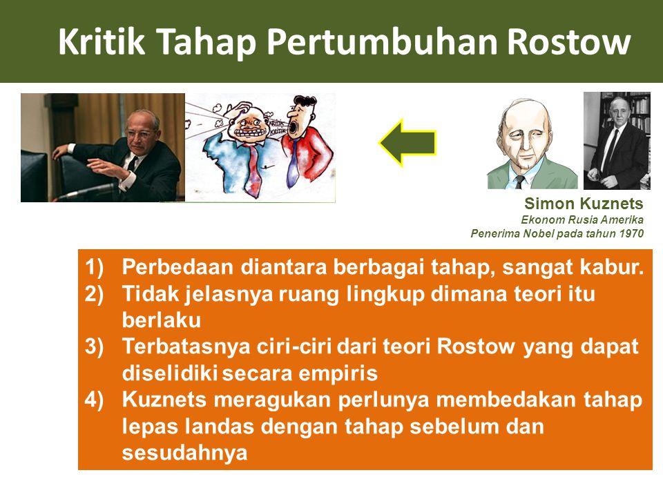 Kritik Tahap Pertumbuhan Rostow