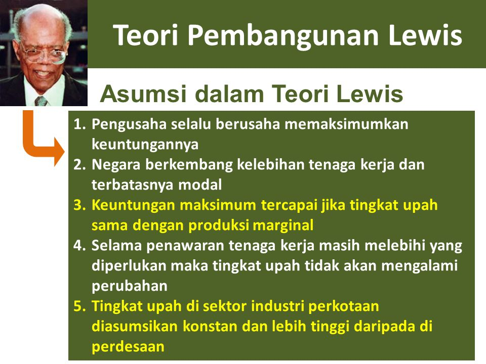 Teori Pembangunan Lewis