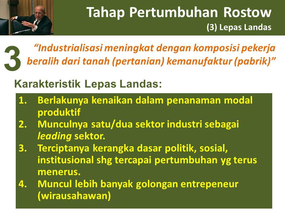 Tahap Pertumbuhan Rostow (3) Lepas Landas